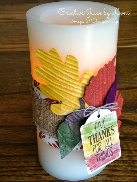 Grateful For All Things Candle Wrap Tutorial