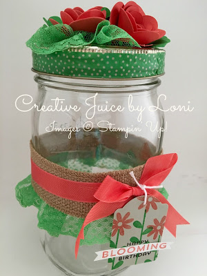 Bloomin' Gift Jar Tutorial