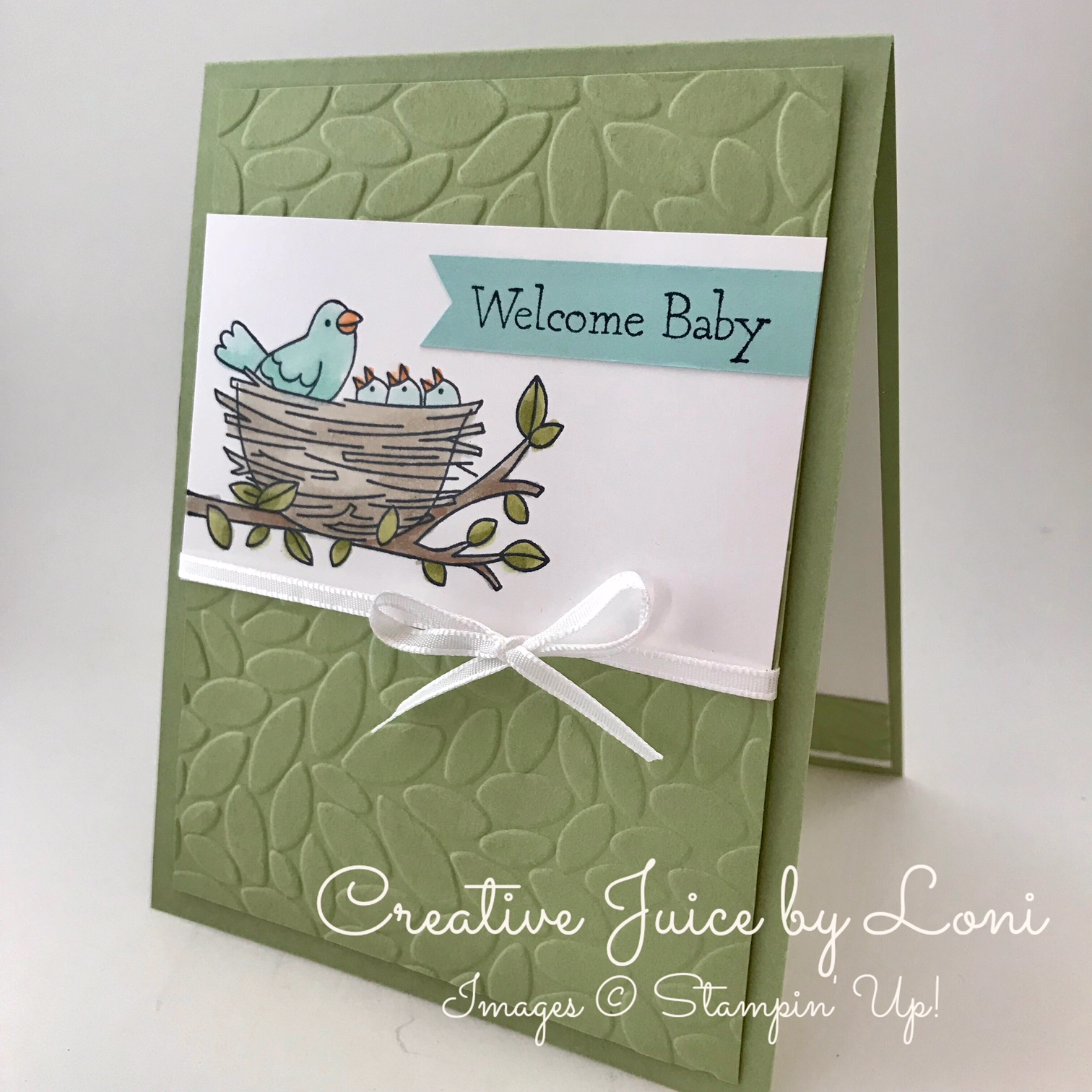 Flying Home Baby Card